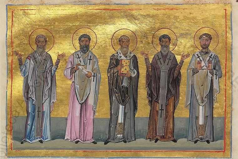 Patrobulus, Hermas, Linus, Caius and Philologus are five of the 70 disciples depicted in the Menologion of Basil II