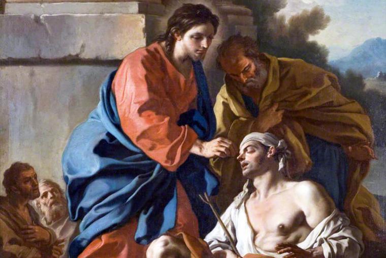 """Francesco de Mura (1696-1782), """"Christ Healing the Blind Man"""""""