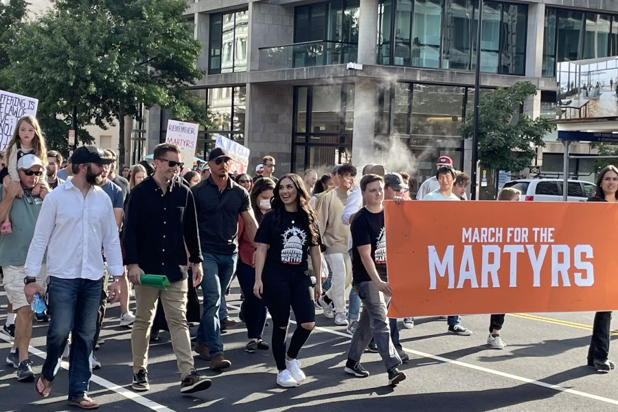 The March for the Martyrs in Washington, D.C., Sept. 25, 2021.