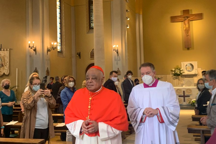 Cardinal Wilton Gregory takes possession of Immaculate Conception church in Rome, Sept. 27, 2021.