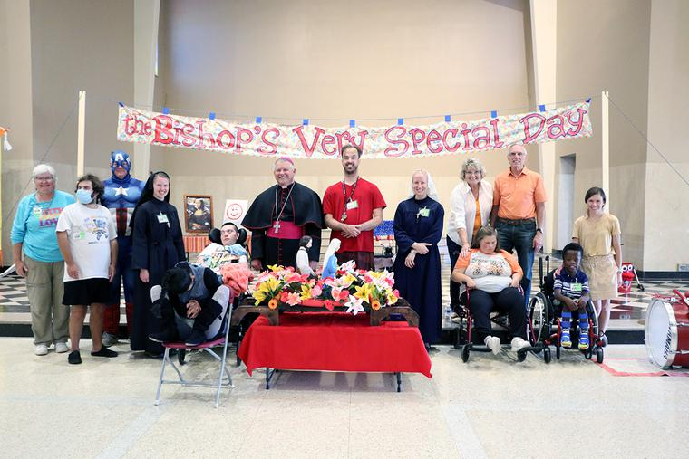 Bishop Richard Stika and participants in the inaugural 'Bishop's Very Special Day'