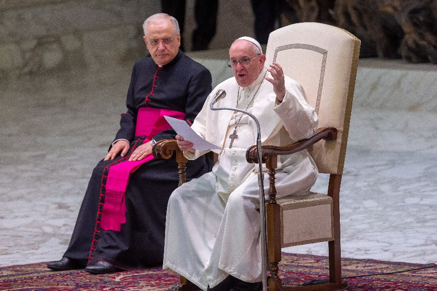 Pope Francis' general audience in the Paul VI Hall at the Vatican, Sept. 29, 2021.