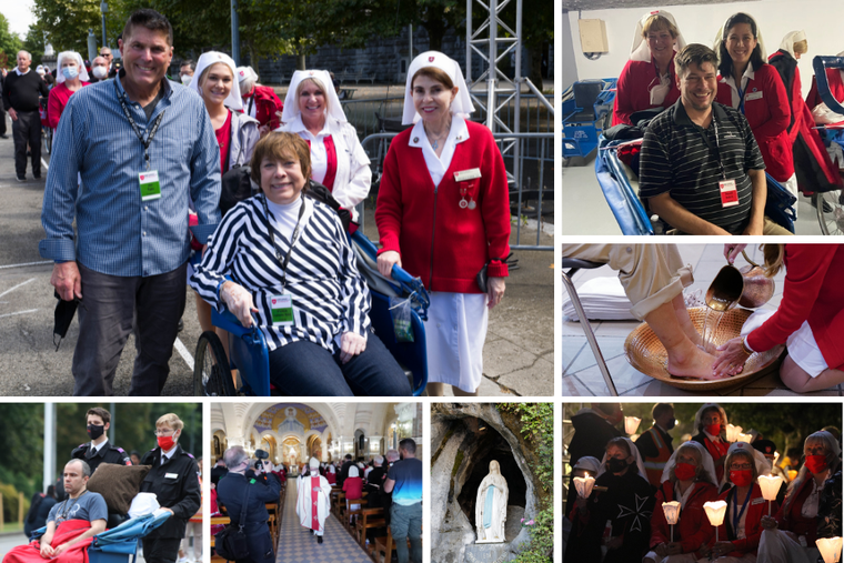 2021 Order of Malta Western Association Lourdes pilgrims were blessed to travel to the Marian shrine earlier this month.