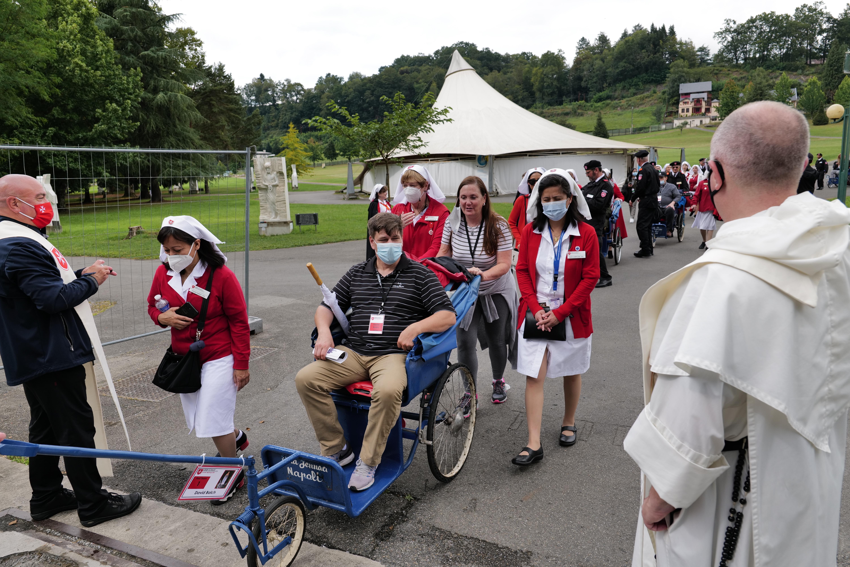 David Balch in Lourdes in 2021. courtesy photo