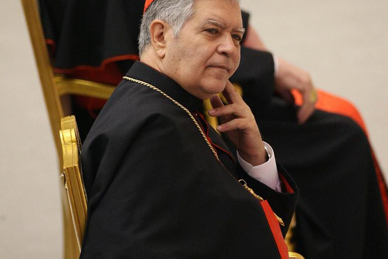 Cardinal Jorge Urosa Savino of Venezuela, shown during a March 2006 visit to the Vatican, died Sept. 23 at the age of 79.