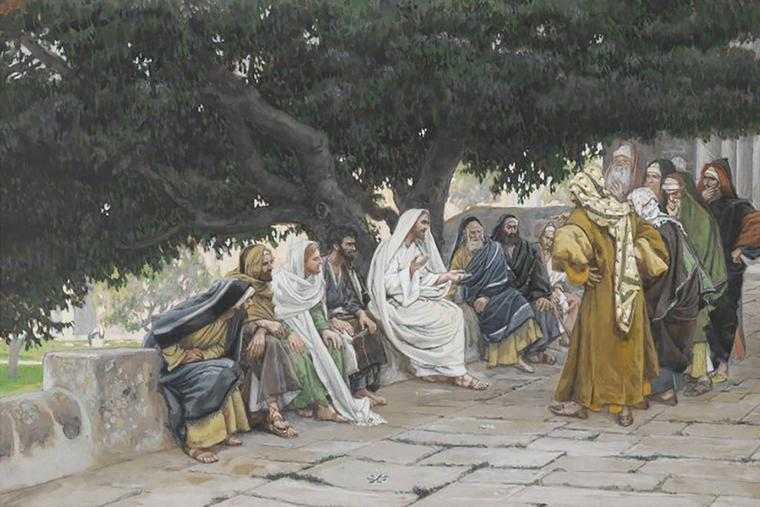 """James Tissot (1836-1902), """"The Pharisees and Sadducees Come to Tempt Jesus"""""""