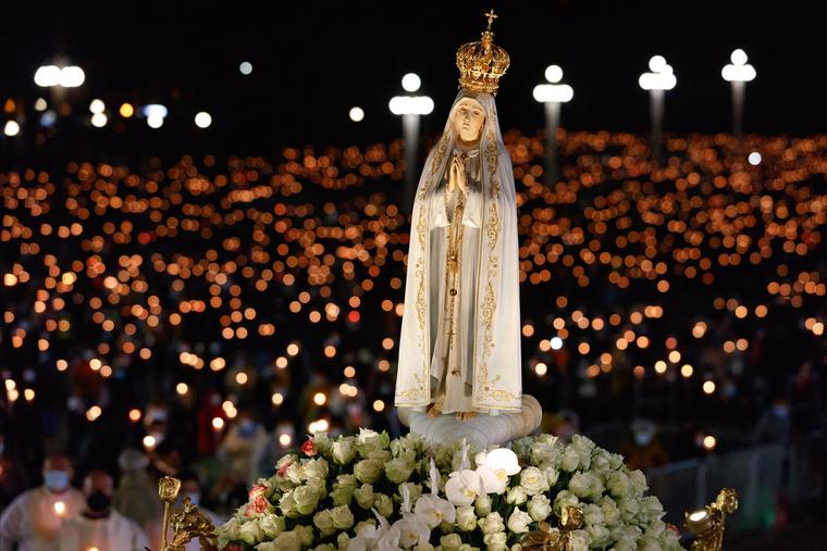 The Shrine of Our Lady of Fatima's evening celebration of the international pilgrimage to Fatima, Portugal, takes place May 12.
