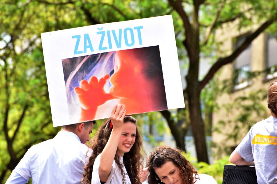 The sixth national Walk for Life in Zagreb, Croatia, May 29, 2021.