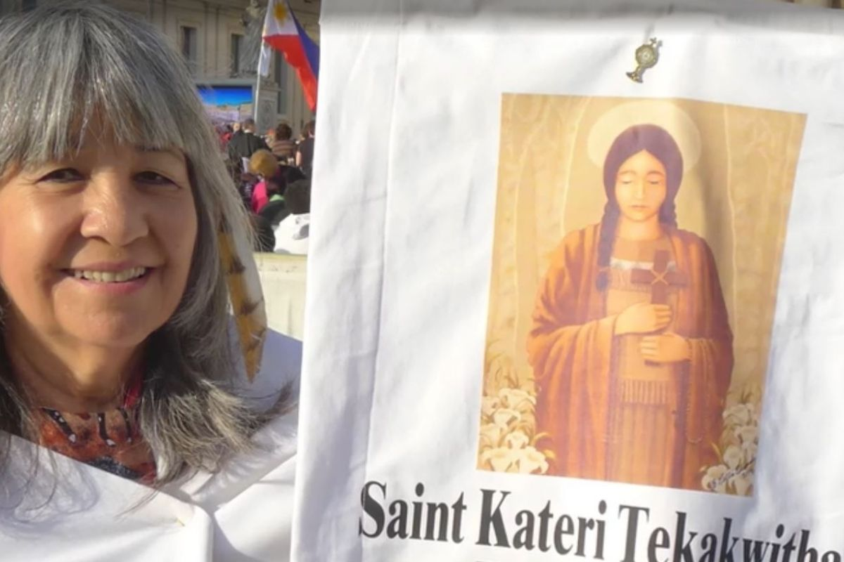 St. Kateri is the first Native American saint.