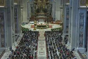 Pope Francis celebrates a Mass at St. Peter's Basilica opening the worldwide synodal path, Oct. 10, 2021