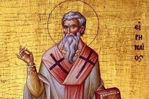 Saint Irenaeus (c. 130-202), Bishop of Lyon.