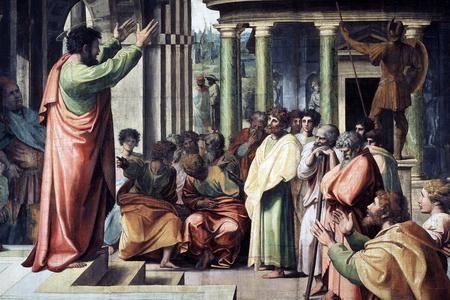 "Raphael, ""Saint Paul Preaching in Athens,"" ca. 1515"