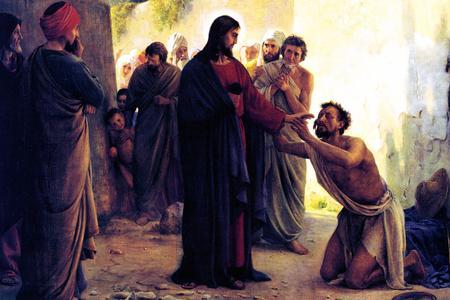 "Carl Bloch, ""Healing of the Blind Man,"" 1871"