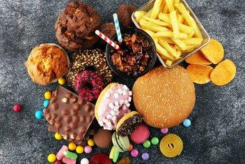 slatkiši, brza hrana