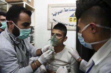 Alep, napad gasom
