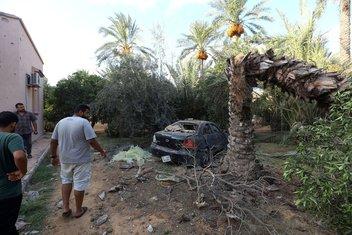 Tripoli, pad granate na pijacu