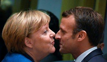 Angela Merkel, Emanuel Makron