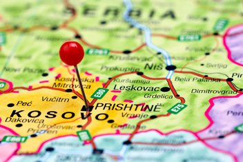 Kosovo, mapa