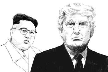 Kim Džong Un, Donald Tramp