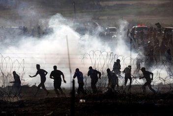 Pojas Gaze, protest