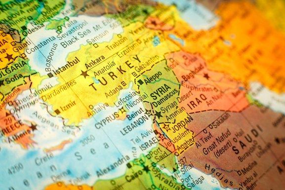 Turska, Kipar, mapa