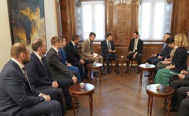 Bašar al Asad, ruski političari