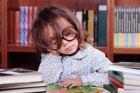 djevojčica, đak, spavanje