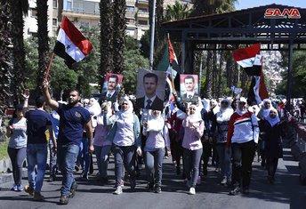 Protest podrške sirijskoj vojsci