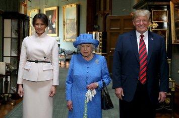 Melanija Tramp, Elizabeta Druga, Donald Tramp