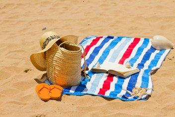 plaža, peškir