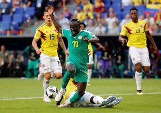 Sadio Mane, Svjetsko prvenstvo u fudbalu, Senegal - Kolumbija