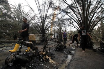 Indonezija požar