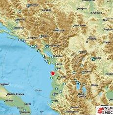 zemljotres, Tirana