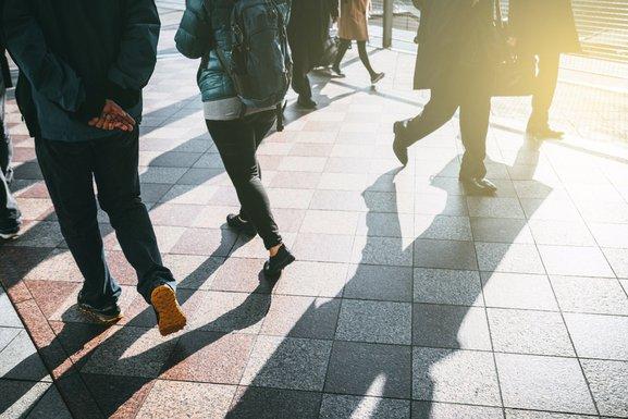 ljudi, šetnja