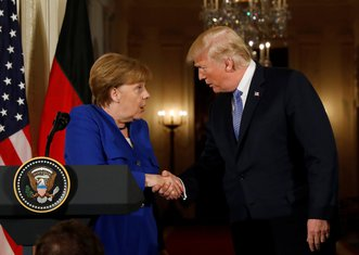 Angela Merkel, Donald Tramp
