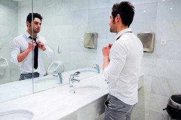 ogledalo, muškarac, sređivanje