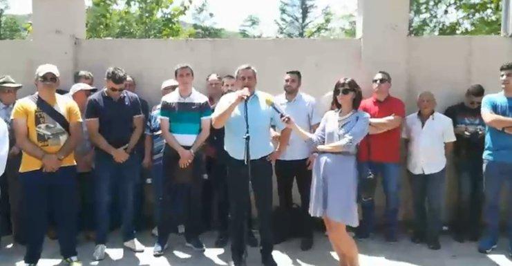 Demorkatski front protest