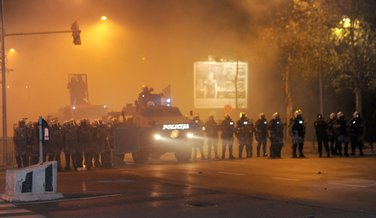 Policija, protest DF