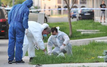 Uviđaj na mjestu gdje je ubijen Miodrag Migi Kruščić u restoranu Palata na Starom Aerodromu