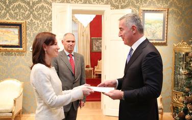Đukanović sa ambasadorkom Estonije
