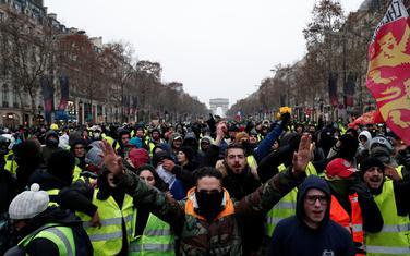 Sa protesta Žutih prsluka