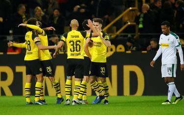 Slavlje fudbalera Borusije Dortmund nakon pobjede