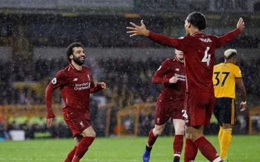 Mohamed Salah i Virdžil van Dajk slave drugi gol