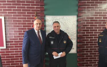 Policajac Medojević sa gradonačelnikom