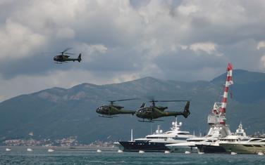 "Helikopteri tipa ""gazella"" iznad Tivta"