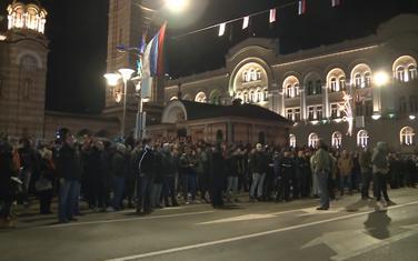 Sa protestnog okupljanja