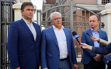 Lideri DF Nebojša Medojević, Andrija Mandić i  Milan Knežević