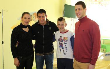 Milena Raičević, Srđan Mrvaljević i Nikola Ivanović u posjeti Dječjoj bolnici