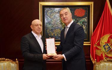 Krivokapić i Đukanović na uručenju danas