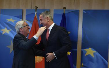 Predsjednik Evropske komisije Žan Klod Junker i predsjednik Crne Gore Milo Đukanović